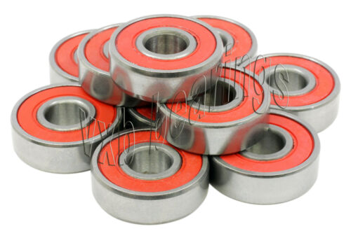 """10 Ball Bearing R6-2RS RS 3//8/""""x 7//8/""""x 9//32/"""" Sealed"""