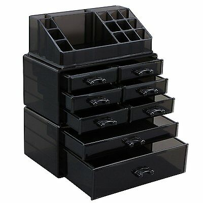 SONGMICS Makeup Organizer Cosmetic Storage Display Boxes Jewelry Chest 3 Pieces