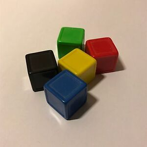 Indented-Blank-Dice-Pack-of-5-x-Large-19mm-Dice-UK-Seller-D154