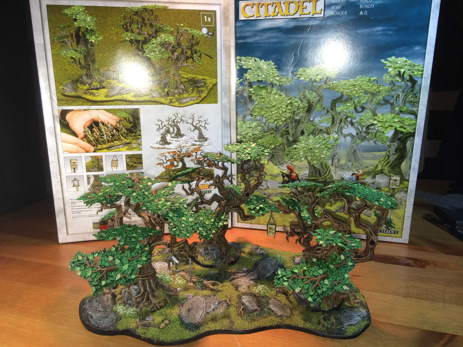 Painted Citadel wood for miniature miniature miniature scenery 9b7428