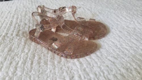 New Toddler Girl Old Navy  Multi Color Glitter T-Strap Jelly Sandals