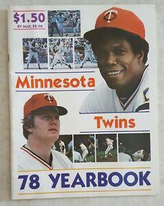 1978-MINNESOTA-TWINS-YEARBOOK-MAGAZINE-CAREW-WYNEGAR-VERY-NICE