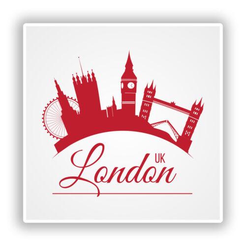 2 X Pegatinas De Vinilo Londres Reino Unido Viaje Equipaje #10176