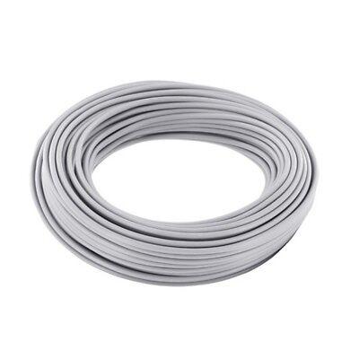 Ring 10m Kupferdraht 0,5mm isoliert Kabel Draht Schaltdraht grau 860264