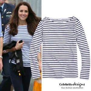 Women-039-s-Cotton-Black-amp-White-Nautical-Sailor-Striped-Top-10-12-14-16-RRP-30-AUS