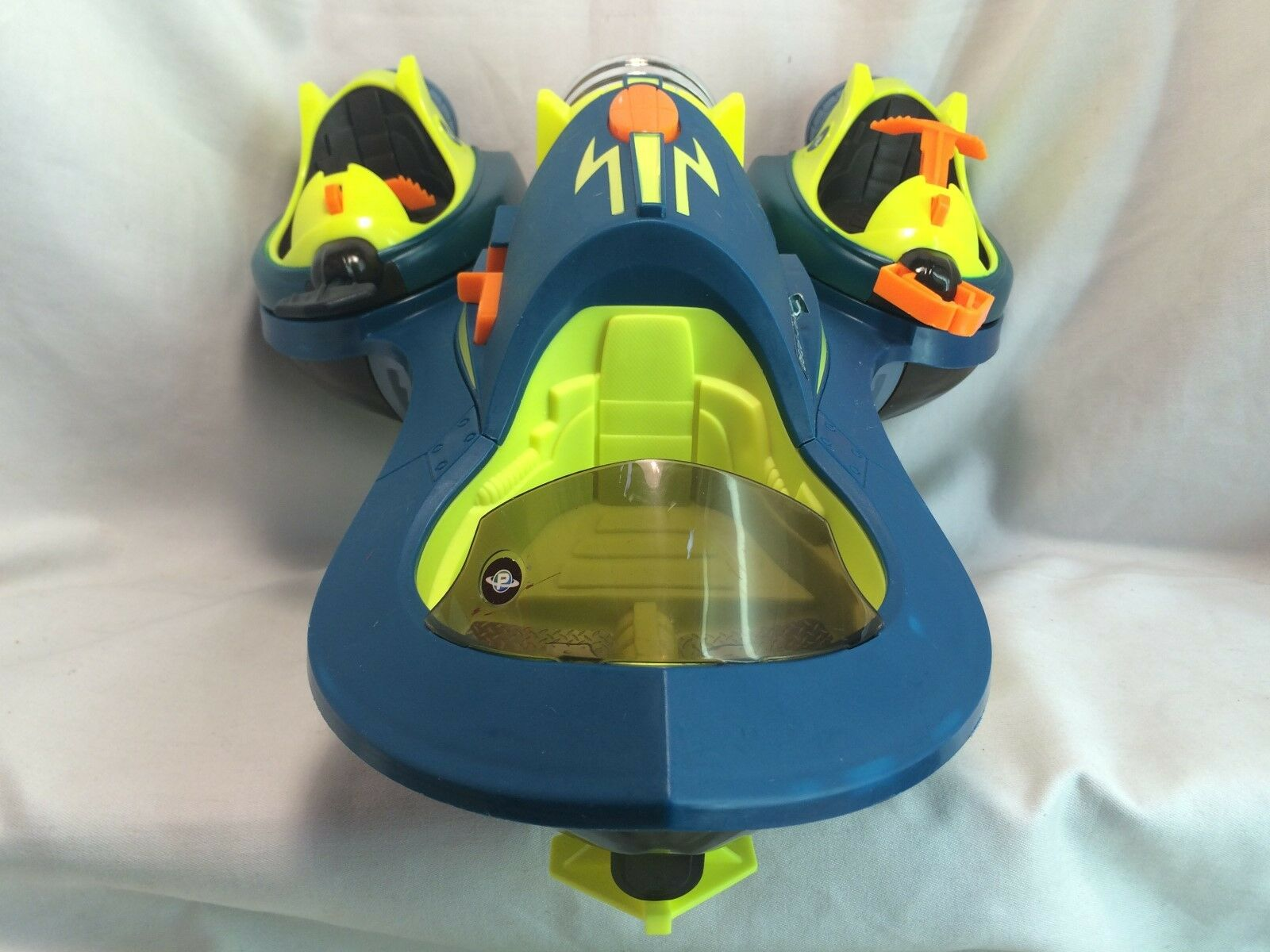 Fisher Price Price Price Planet Heroes bluee orange Green Turbo Shuttle 16  Large Airship b36cab