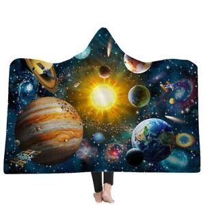 Hooded Blanket For Adults Wearable Fleece 3D Hooded Blanket Cloak Cap Blanket