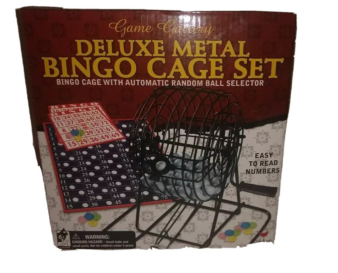 Deluxe Metal Bingo Cage Set for The Entire Family