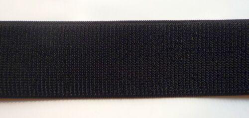 nur NEU 1 m Klettband Flauschband elastisch  schwarz 50 mm zum nähen