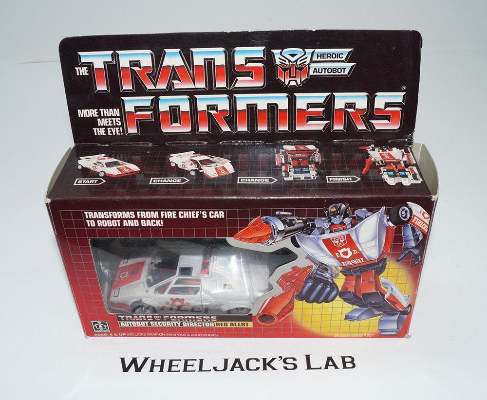 Red Alert MIB 100% Complete B 1985 Vintage Hasbro Action Figure G1 Transformers
