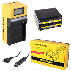 Batteria-Patona-caricabatteria-Synchron-LCD-USB-per-Sony-HDV-FX1-HDV-Z1