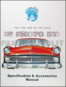 Image is loading 1955-Ford-Car-Specifications-Accessory-and-Options-Manual-  sc 1 st  eBay & 1955 Ford Car Specifications Accessory and Options Manual 55 | eBay markmcfarlin.com
