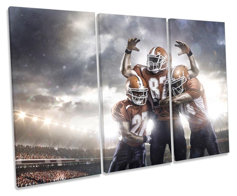 American Football Sports Sports Sports Picture TREBLE CANVAS WALL ART Print 10ec36