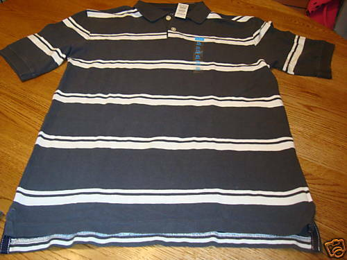 The Children/'s Place small S 5//6 Polo NWT boys shirt gray white school casual