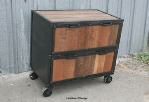 Vintage Industrial Style File Cabinet. Filing. Mid Century ...