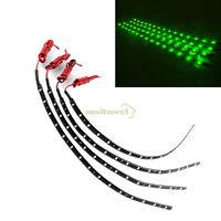 4pcs Green Led Lamp String Waterproof Flexible Car Decoration Strip Light Dc 12v