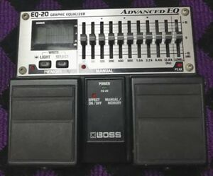 boss eq 20 10 band graphic equalizer guitar effects pedal f s japan 761294053867 ebay. Black Bedroom Furniture Sets. Home Design Ideas
