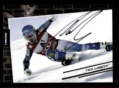 100% Vero Ted Ligerty Autografo Mappa Originale Firmato Ski Alpine + A 176192-mostra Il Titolo Originale