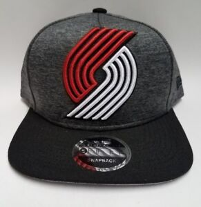 pick up 3ab1d 1edea Image is loading Portland-Trail-Blazers-New-Era-Heather-Graphite-Black-