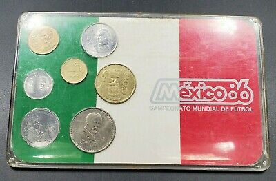 Mexico Mint 7 Coin Set Commemorating The 1986 FIFA World Cup BU UNC Coins
