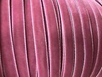 Vintage 3/8 Rose Pink Velvet Ribbon Dolls Childs Edging 3yd Swiss