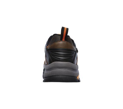 Calzado con 77123 Marrón de punta naranja impermeable acero de trabajo Skechers hombres Delleker para 05qwUUx6