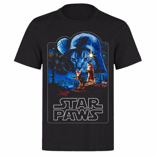 STAR PAWS CATS /& DOGS THE FORCE AND THE DARKSIDE UNISEX PARODY T SHIRT