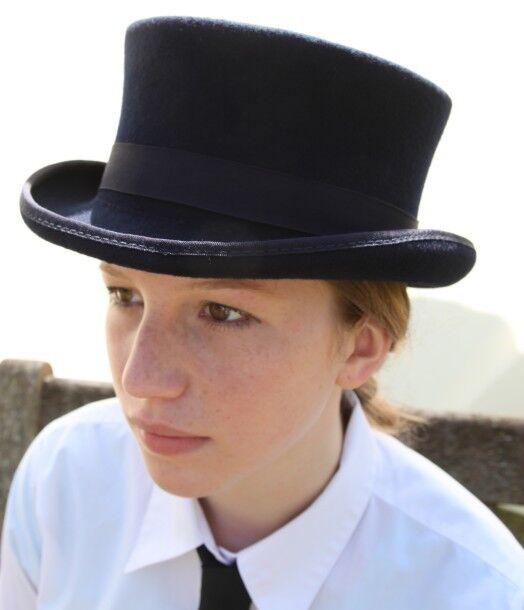 100% Wool Dressage Style Top Hat - XL appx 60cm   61cm