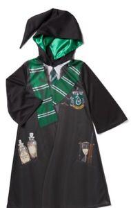 Harry-Potter-Slytherin-Bata-Disfraz-Vestido-Libro-Dia-Completa-11-12-anos-de-edad