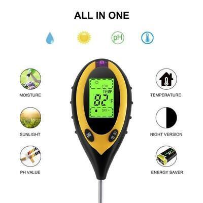 3 in1 PH Wert Boden Erde Licht Feuchtigkeit Messgerät Tester Bodentester DE