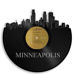 Minneapolis Vinyl Wall Art Cityscape Retro Home Decor Vintage Record ...