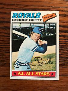 1977-Topps-580-George-Brett-Baseball-Card-Kansas-City-Royals-HOF-Raw
