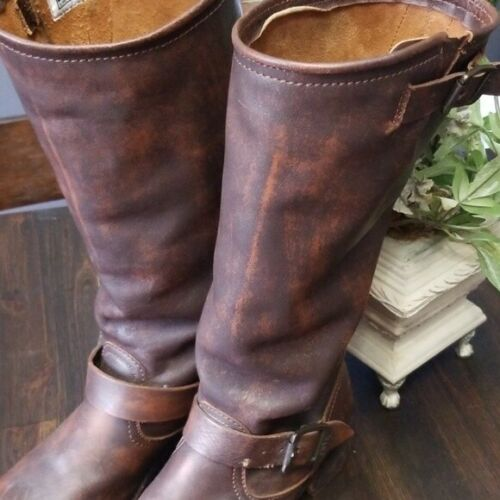 FRYE VERONICA Slouch Boot Tall ENGINEER Moto Ridin
