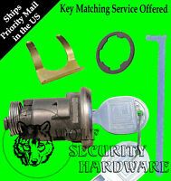 Cadillac Olds Boot Trunk Lock Key Cylinder Assembly Chrome 2 Keys In Stock