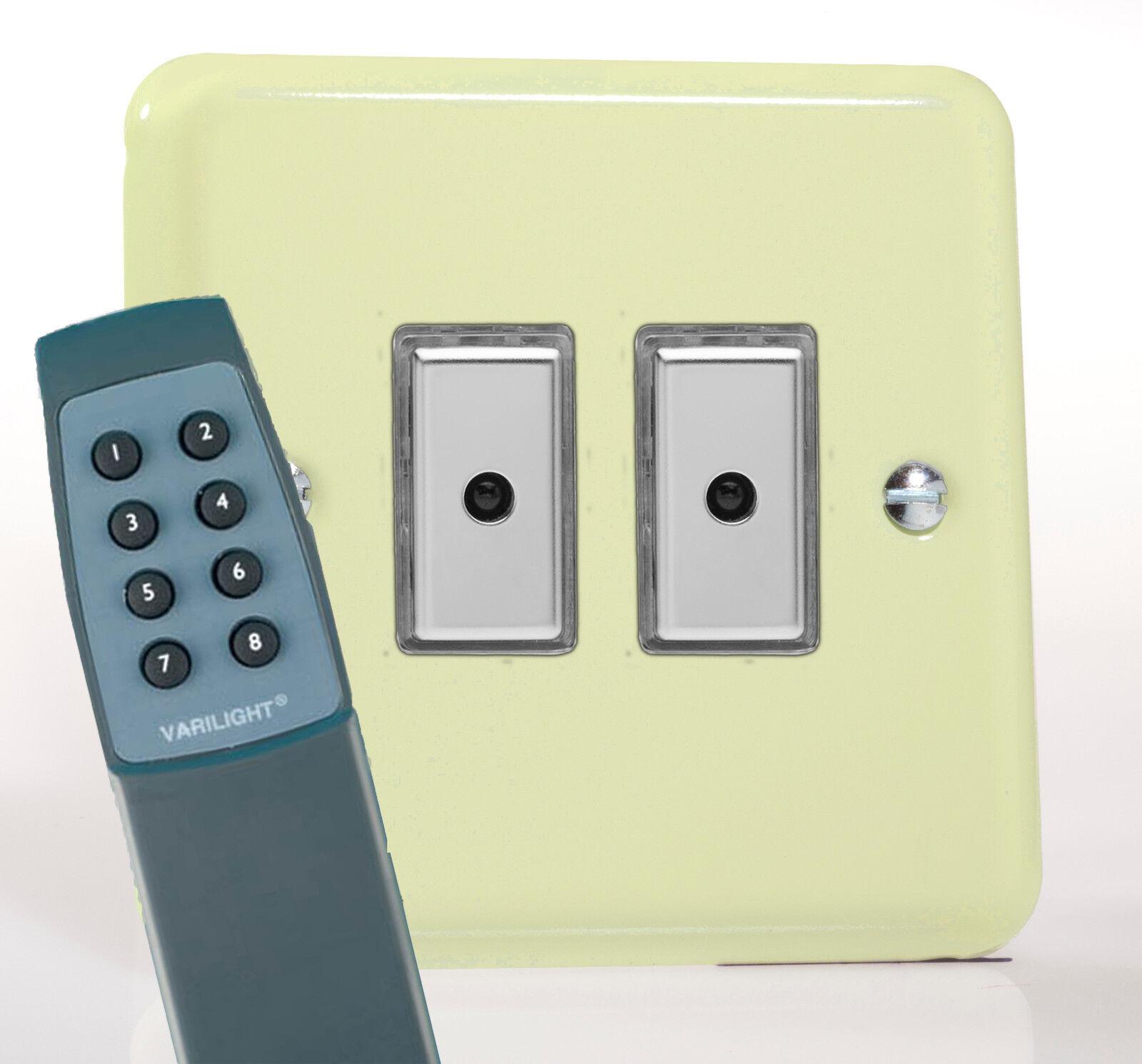 Varilight 2-Gang 1-Way à distance/tactile touch control Master DEL Gradateur Suisse de Lumière Suisse Gradateur 5b951c