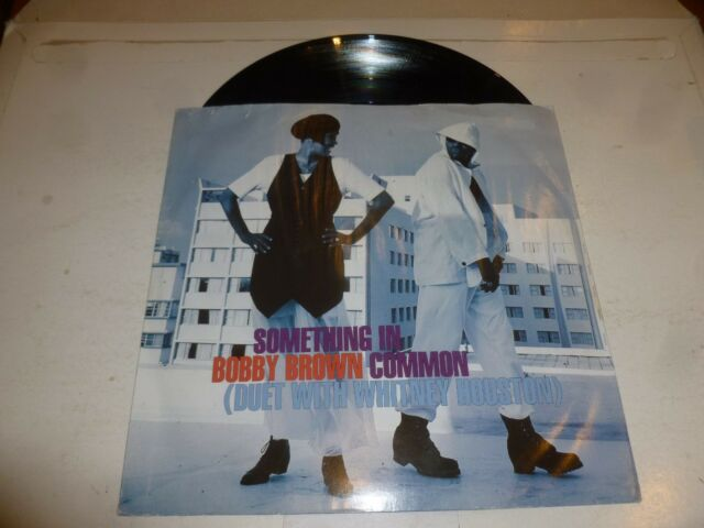 """WHITNEY HOUSTON with BOBBY BROWN - Something In Common - 1993 UK 4-track 12"""""""