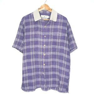 Wild-Oats-Naturally-Sewn-Mens-Button-Up-Check-Shirt-Size-XL-Made-In-Australia