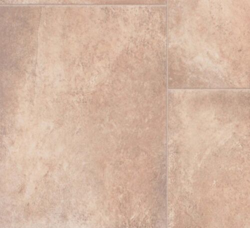 Tile Effect Beige Vinyl Flooring Hall Kitchen Bathroom 2m 4m Rolls NEW 3m