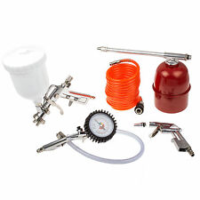 Druckluft Werkzeug Set Ausblaspistole Reifenfüller Lackierpistole Schlauch