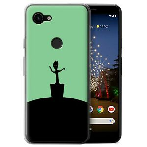 Gel-TPU-Case-for-Google-Pixel-3a-XL-Minimalist-Movie-Art-Baby-Groot-Inspired