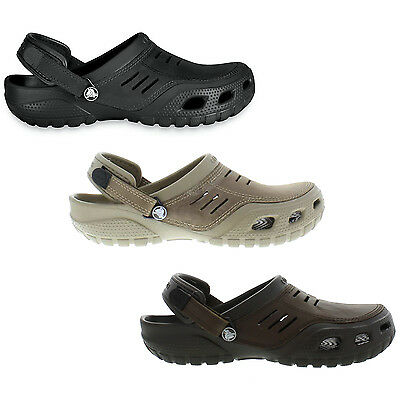 ecf75cc5e Crocs Yukon Sport Mens Leather Clogs Shoes Size UK 6-12