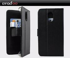 avadoo® UMI Plus Flip Case Cover Tasche Schwarz mit Magnetverschluss Hülle