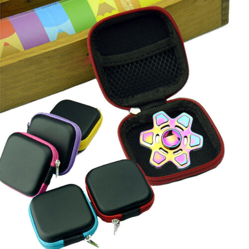Square Case For Fidget Hand Spinner Triangle Finger Toy ADHD Autism Bag Focus