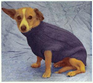 Vintage Knitting Pattern Instructions Pet K9 Dog Cat Sweater Coat