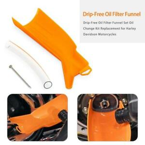 Drip-Free Oil Filter Funnel For Harley,Crankcase Fill Funnel Primary Case Oil Fill Drip-Free Oil Funnel Set For Harley,Oil Change Kit Replacement For Harley Davidson Motorcycles