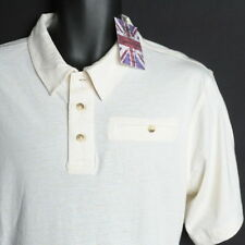 NWT $70 English Laundry Off White ORGANIC COTTON Polo Shirt Medium Short Sleeve
