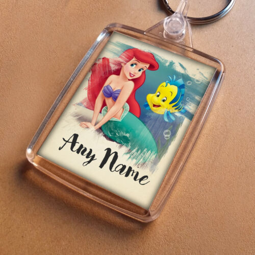 Keychain Girls Granddaughter Niece Party Bag Filler ARIEL Personalised Keyring