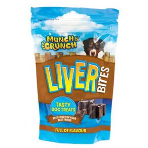 Munch-amp-Crunch-Liver-Bites-125g-Tasty-Dog-Treats-Snacks-100-Beef-Liver