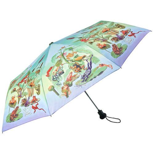 BORSE OMBRELLONE ombrello RANA colorata motivo naturale Donna Bambino famiglia Rana