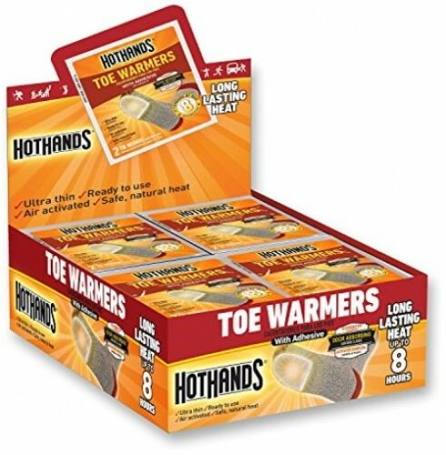40-Pair Toe Warmers Set Outdoor Camping Hiking Odorless Portable Heat Pack NEW